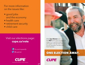 CUPE Members Election leaflet 2